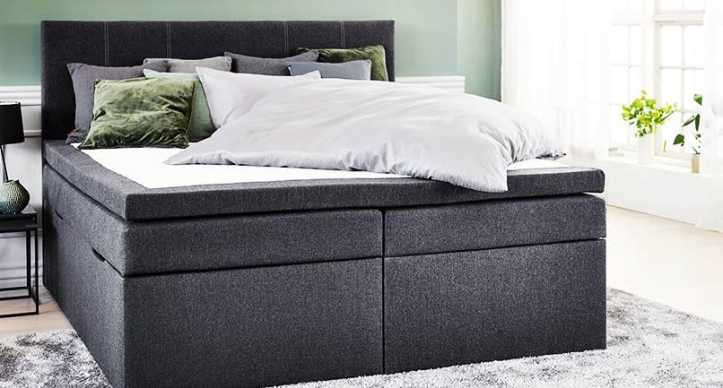 Избор на легло за спалнята в черен цвят