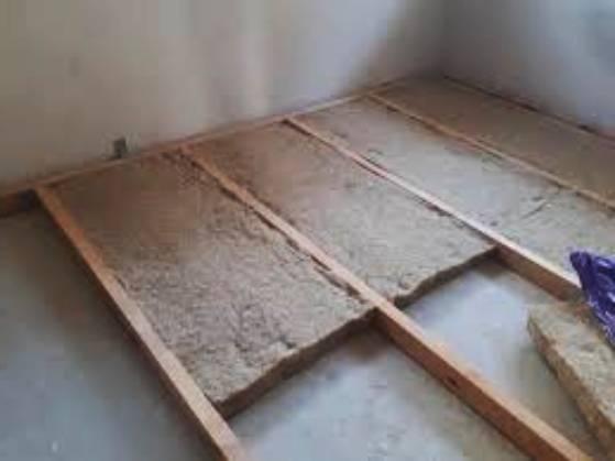 Вътрешна топлоизолация на под в къща